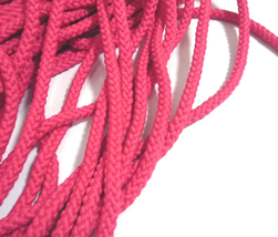 4.5mm wide 5-10yds Rose Red Non-Wax Polyester Cord Braided Cord Drawstri... - $5.99+