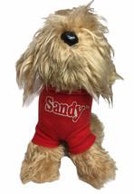 "VTG Knickerbocker Annie Sandy Dog Plush 11"" Puppy Stuffed Animal Toy Red... - $27.67"