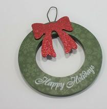 Happy Holidays Wall Hanging Tree Ornament Wreath - $7.19