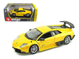 2010 Lamborghini Murcielago LP 670-4 SV Yellow 1/24 Diecast Model Car by... - $34.30