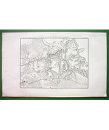 1859 ANTIQUE MAP - Russia Borodino & Environs + Battle - $16.20