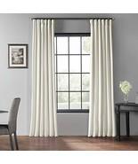 PDCH-KBS2BO-96 Blackout Vintage Textured Faux Dupioni Curtain, Off White... - $45.32