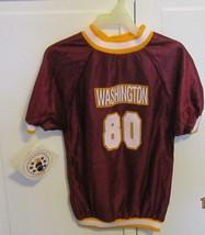 WASHINGTON Football Themed Mesh Dog T Shirt Clothes Size Large Top - $8.95