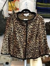 St. John Collection Cheetah Print Jacket Sz 12 $1290 - $267.70