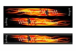 An item in the Sporting Goods category: White Water Archery WWA Grim Reaper Reap It Flames Black Solid Color Stabilizer