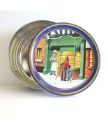 Christmas Holiday Cookie Tin Danish Butter Cookie Looking through Bakery... - $9.18