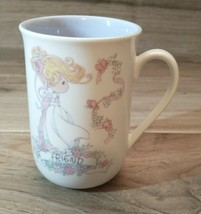 "Precious Moments ""Friends"" Mug Cup 1993 ""A true friend is a treasure for... - $14.85"