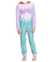 Kids Disney Princess The Little Mermaid Ariel Union Suit Half Zip Pajamas S 6-6x - $11.13