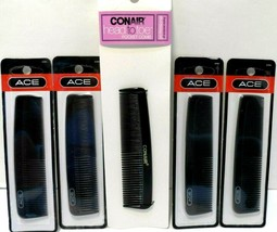 """Lot of 5 NEW Ace & Conair 5"""" Pocket Combs - $14.49"""