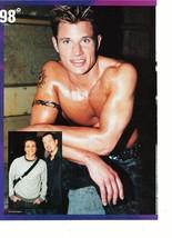 Nick Lachey teen magazine pinup clipping shirtless 98 degrees sweaty smoking hot