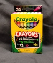 Brand New Pack of 32 Crayola Crayons with RETIRED COLOR DANDELION! - $7.84