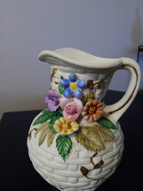 White Floral Design Amart of Taiwan  Porcelain Bisque Capodimonte Finish Vase or image 1