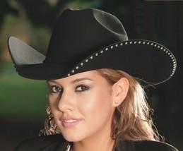 Bullhide Women's Cowboy Cowgirl Black 4X Hat DELTA DAWN Bling Down Under... - $54.50