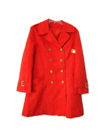 1960s vintage orange mod coat size large - $99.99