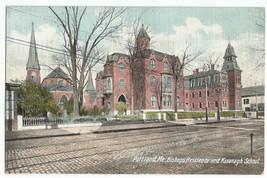 Portland ME Bishops Residence Kavanagh School UDB Vintage Postcard - $8.95