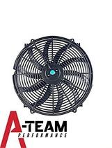 "A-Team Performance 130031 16"" Heavy Duty 12V Radiator Electric Wide Curved S Bla"