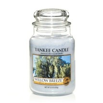 ☆☆WILLOW BREEZE☆☆LARGE YANKEE CANDLE JAR~FREE SHIP☆RARE FRESH SCENT WHIT... - $24.74