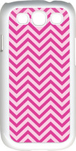 Chevron Pink Designed Samsung Galaxy S3 Case Cover - $13.95