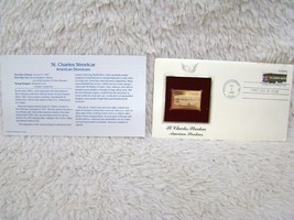 1983 St. Charles Streetcar, LA 22Kt Gold First Day Issue Replica Cover S... - $7.49