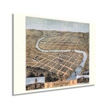 1871 Frankfort Kentucky Map Poster - Vintage Frankfort Kentucky Wall Art - Old F - $34.99+