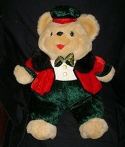 "20"" VINTAGE MTY INTERNATIONL TEDDY BEAR CHRISTMAS BROWN STUFFED ANIMAL P... - $36.47"