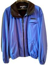Ralph Lauren POLO SPORT Jacket Fleece Lined Blue Rubber Logo Large - $31.99