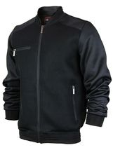 Men's Lightweight Multi Pocket Letterman Varsity Mesh Track Bomber Jacket image 12