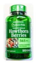 Hawthorn Berries 565mg 100 Capsule Heart Blood Health Support Berry Pill pp - $9.90