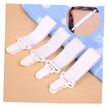 4 Bed Sheet Mattress Cover Blankets Grippers Clip Holder Fasteners Gripper AE7