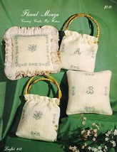 Country Crafts FLORAL MONZA Pat Waters Leaflet 52 Stitching on Monza - $4.99