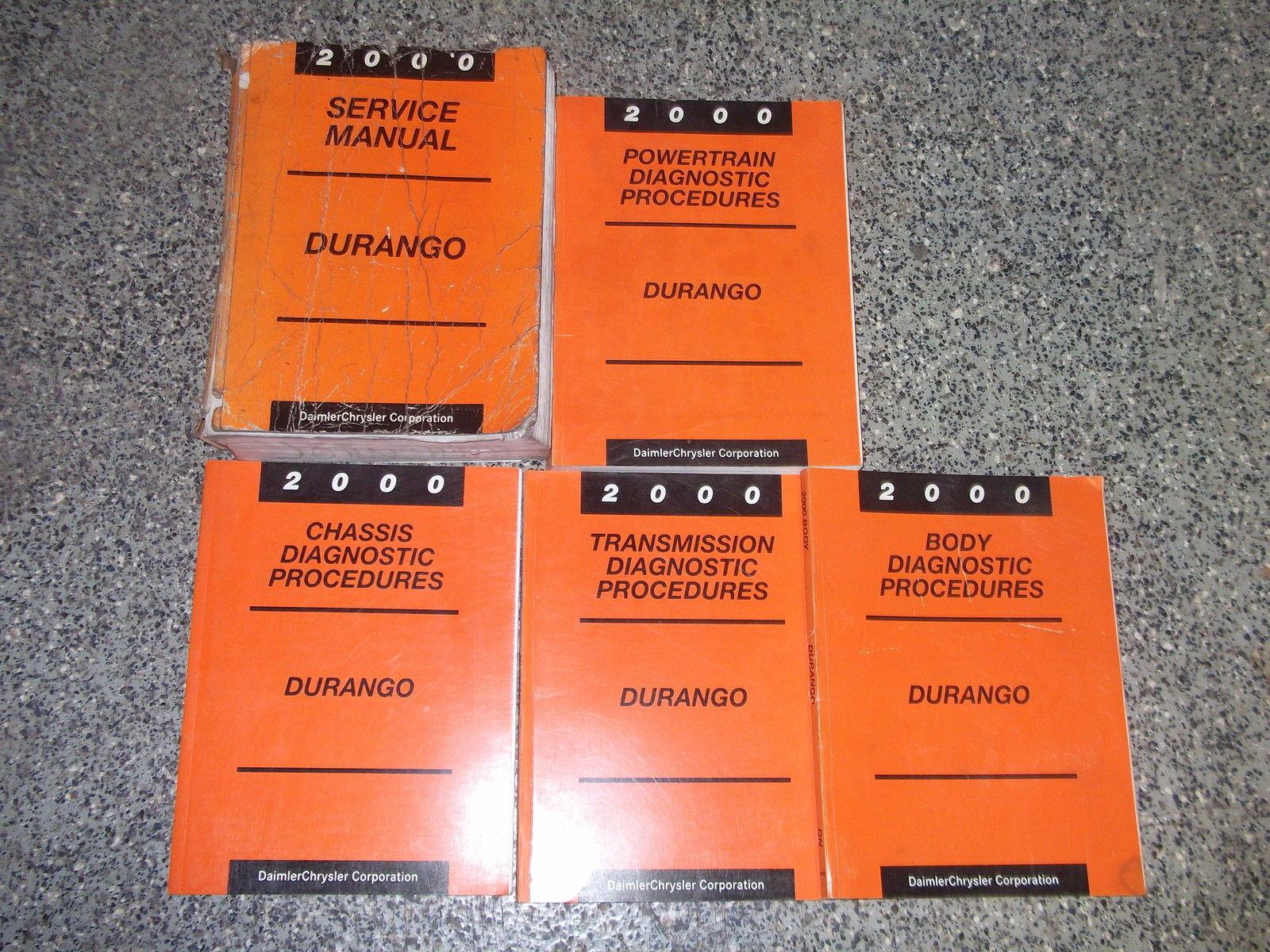 2000 Dodge Durango Service Repair Shop Manual Set OEM FACTORY BOOKS MOPAR 2000