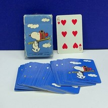 Peanuts gang playing cards Hallmark vintage Snoopy skiis skiing schulz d... - $16.78
