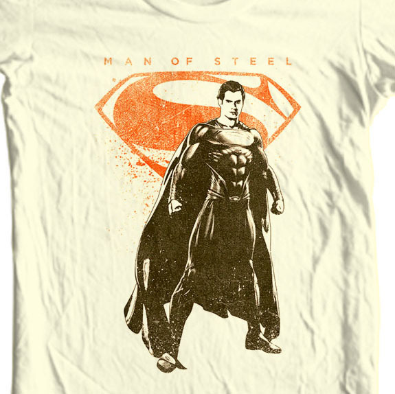 Superman Man of Steel T-shirt DC comics movie Justice League graphic tee SM2112