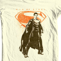 Superman Man of Steel T-shirt DC comics movie Justice League graphic tee SM2112 image 1