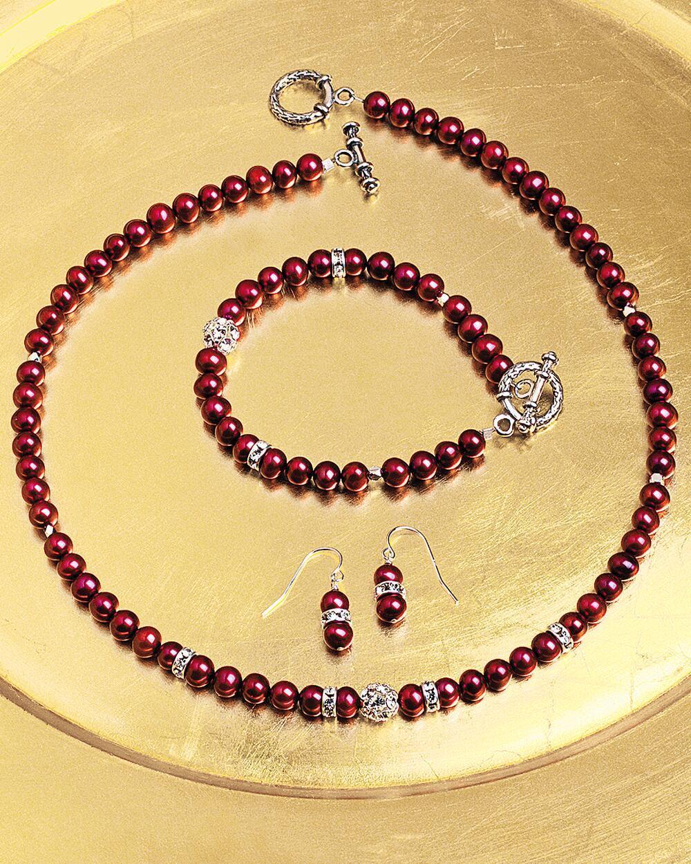 Smithsonian50140scrimsonfreshwaterpearljewelryset