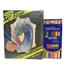 Crayola Art with Edge Adult Coloring Book Fantastic Beasts with Colored ... - $14.02