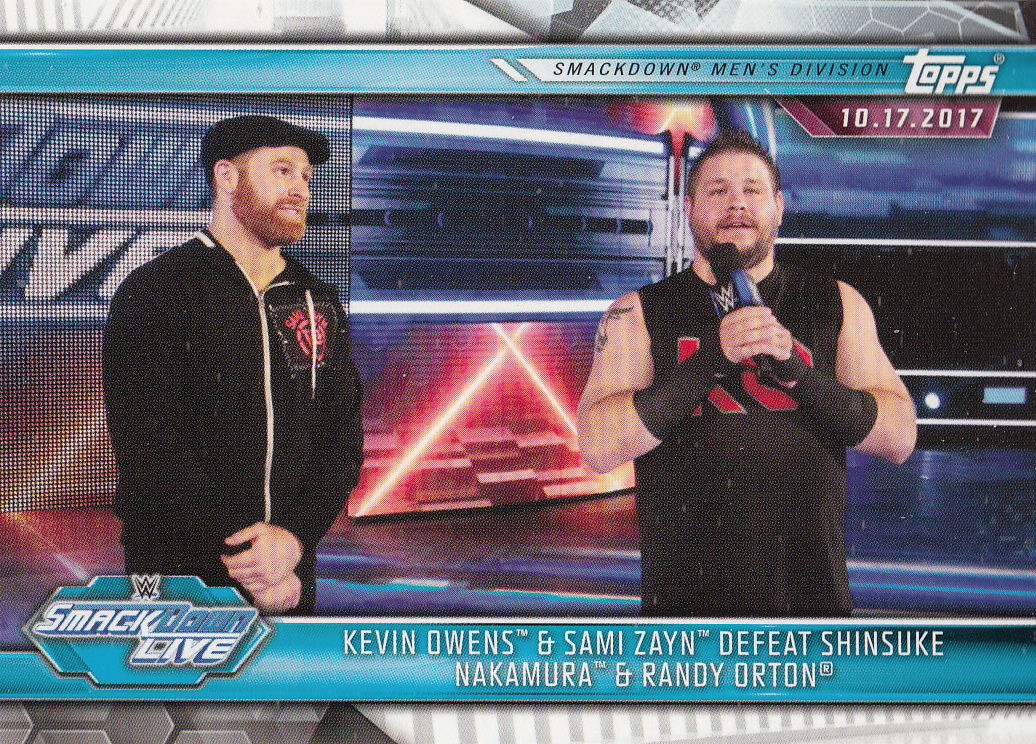 Kevin Owens/Sami Zayn 2019 Topps WWE Road To Wrestlemania Card #65