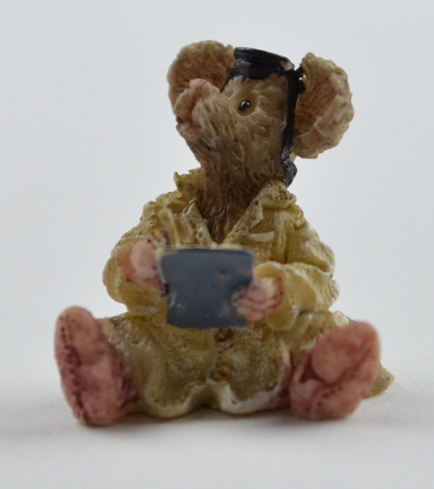 Boyds Bears Resin Treasure Box Candice's Apple Crate & Doc McNibble Mouse Figure