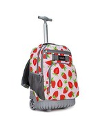 Tilami Rolling Backpack 18 inch Wheeled Laptop Backpack School (Strawberry) - $81.30