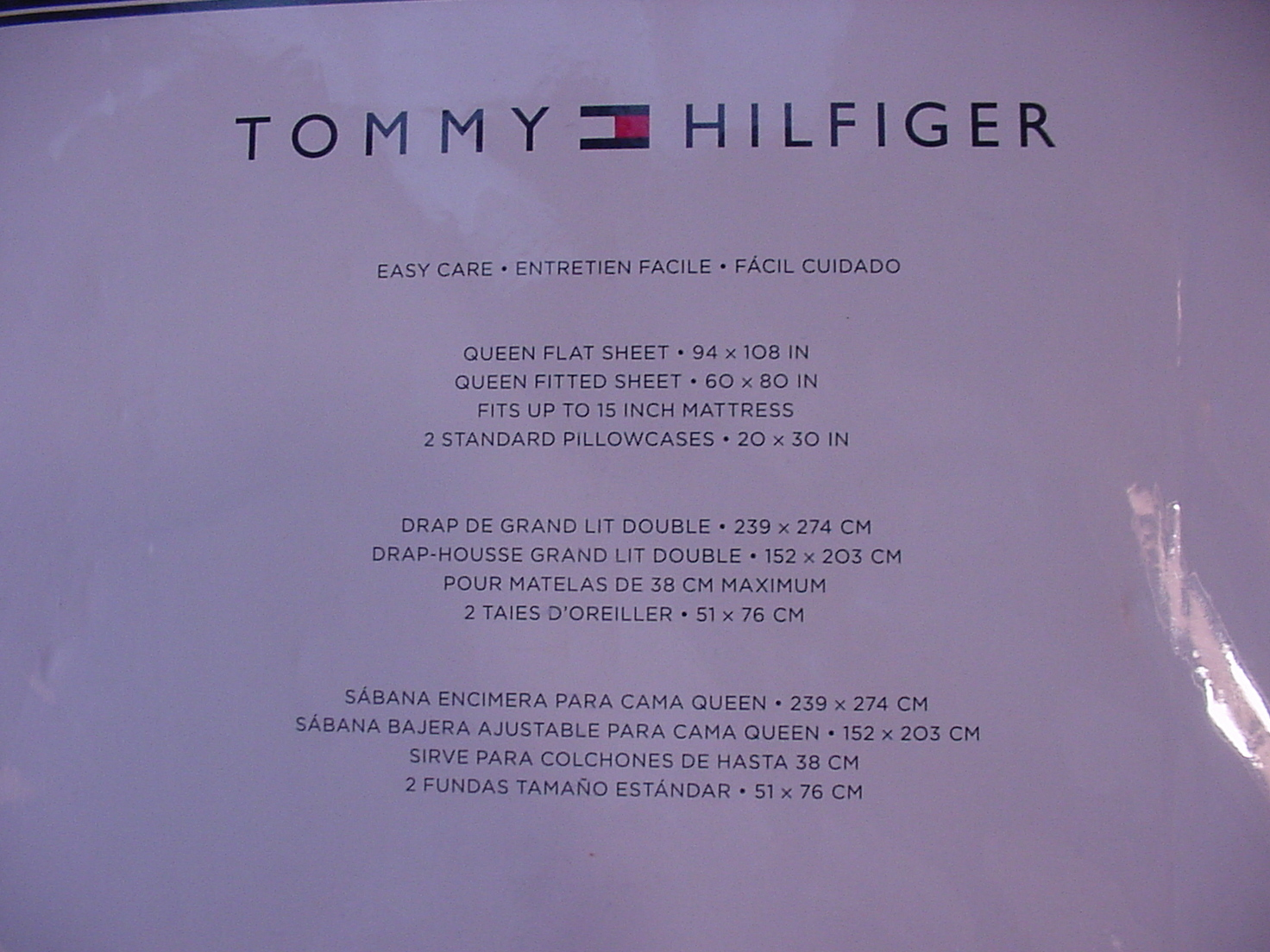Tommy Hilfiger Gray with White Polka Dots Sheet Set Queen