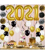New Years Eve Party Supplies 2021 Balloons Pack of 49 - $65.00