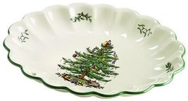 Spode Christmas Tree Oval Fluted Dish - $110.00