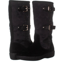 Coach Tina Mid Calf Boots 323, Black, 6.5 US - $58.55