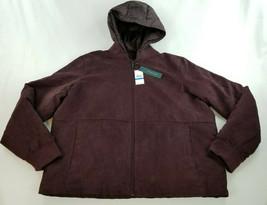 new PERRY ELLIS women jacket coat 4CFR9012BC burgundy XL MSRP - $62.98