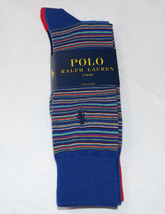 Men's Polo Ralph Lauren 2 pack Pair socks 10-13 dress casual 899670PK blues mult - $20.14