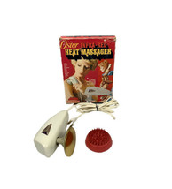 Vintage Oster Infra-red Heat Massager With Scalp Applicator Box Tested - $43.37