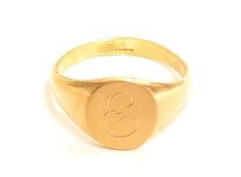 Vintage 10K GF ESPO Gold Filled Engraved Monogram Esposito Signet Rings ... - $29.95