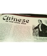 Chinese in the Civil War Article in North & South Magazine 1999 Photos R... - $12.99