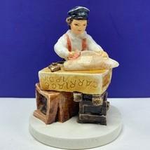 Sebastian miniatures figurine pw baston Carriage Irons 1980 signed black... - $29.65