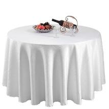 70-120 Redondo Blanco Mantel adamascado Mantel Cubierta Rama Remolino banquete - $32.67+